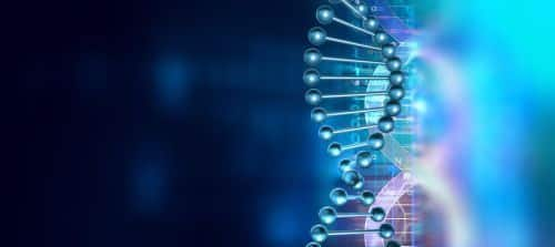 3d Render Of Dna Molecule Structure. Dna Abstract Medical And He